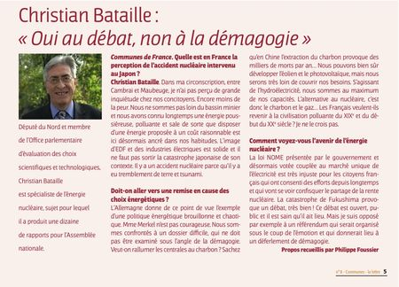 Article C.Bataille lettre FNESER