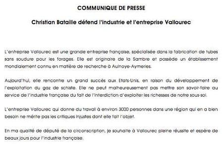 Communiqué Vallourec 2