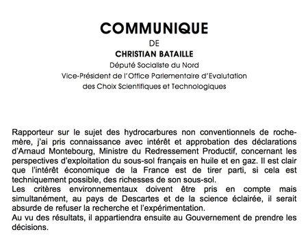 Communiqué Arnaud Montebourg 11 07