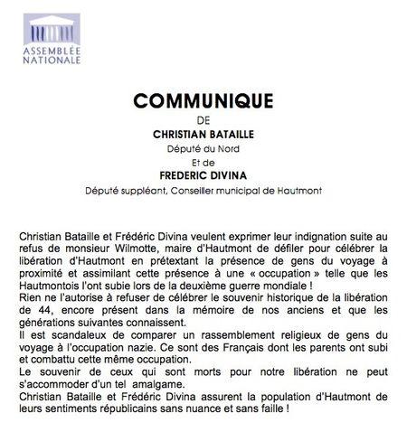Communiqué Hautmont
