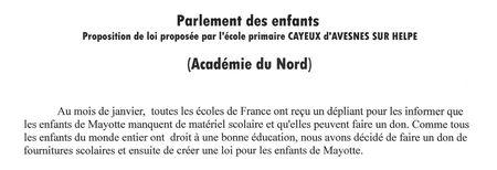 Proposition de loi L.Cayeux