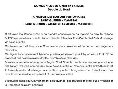 Communiqué rapport Duron